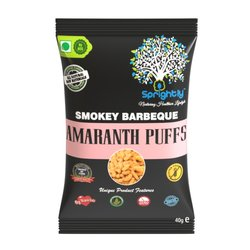 Smoky Barbecue Roasted Amaranth Puffs Snack 35g (Vegan)