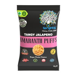 Tangy Jalapeno Roasted Amaranth Puffs Snack 35g (Vegan)