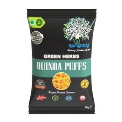 Green Herbs Roasted Quinoa Puffs Snack 40g (Vegan)