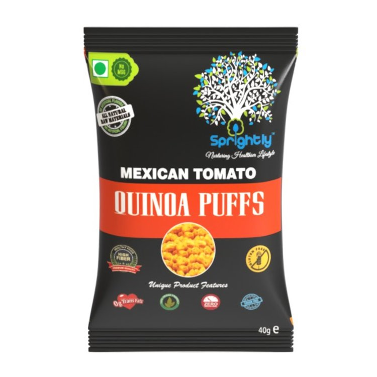 Mexican Tomato Roasted Quinoa Puffs Snack 40g (Vegan)