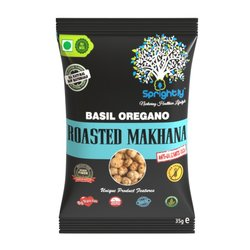 Basil & Oregano Roasted Makhana (Lotus Seed) Snack 35g