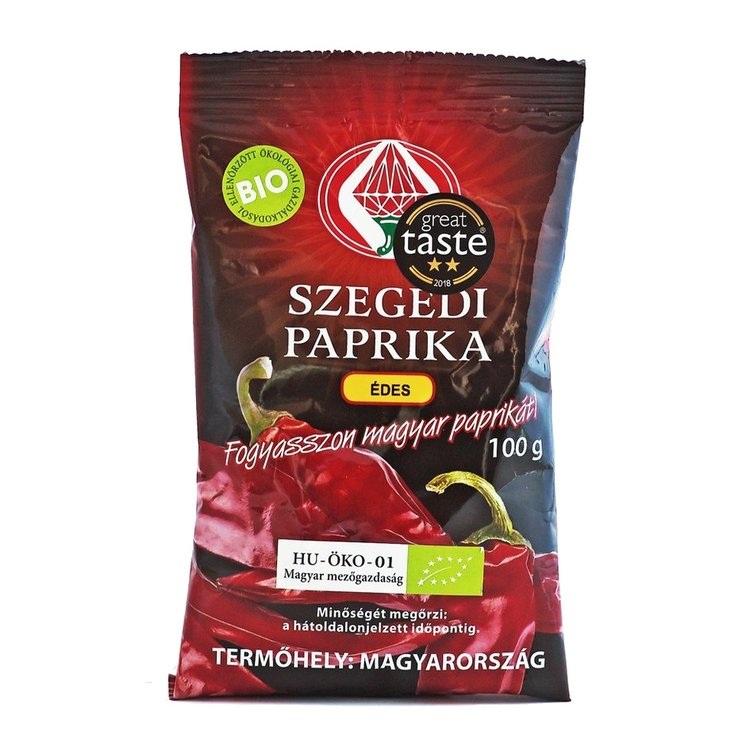 Organic Hungarian Sweet Paprika from Szeged 100g