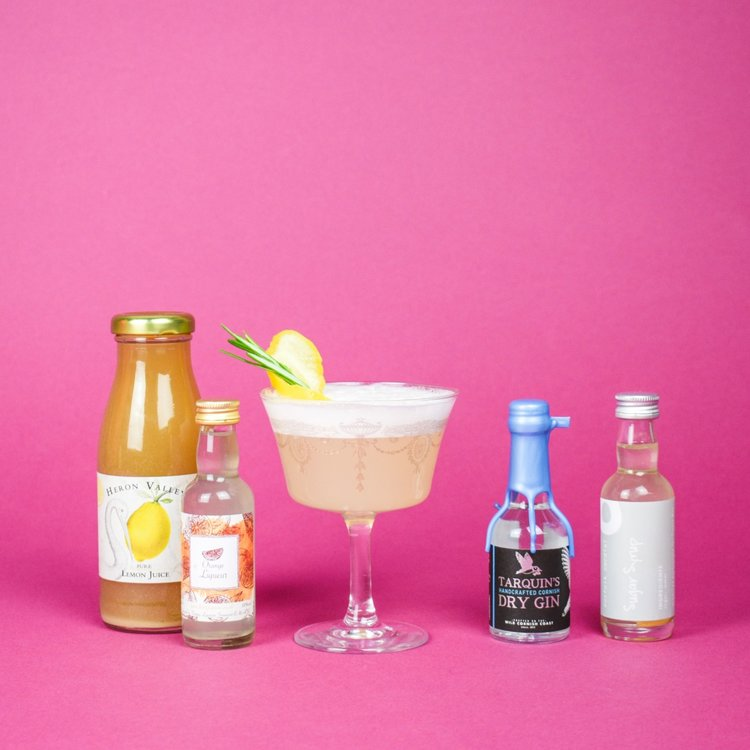 'White Lady' & Ramos Gin Fizz Cocktail Gift Set Inc. Tarquins Gin, Orange Liqueur & Fever-Tree