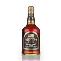 Pusser's 'Gunpowder Proof' Black Label Admiralty Strength Caribbean Dark Rum 70cl 54.5% ABV