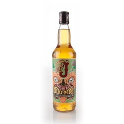 Old J Admiral Vernon's Tiki Fire Overproof Spiced English Rum 75cl 75.5% ABV