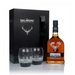 Dalmore 15 Year Old Single Malt Highland Scotch Whisky Gift Box with 2 x Whisky Glasses