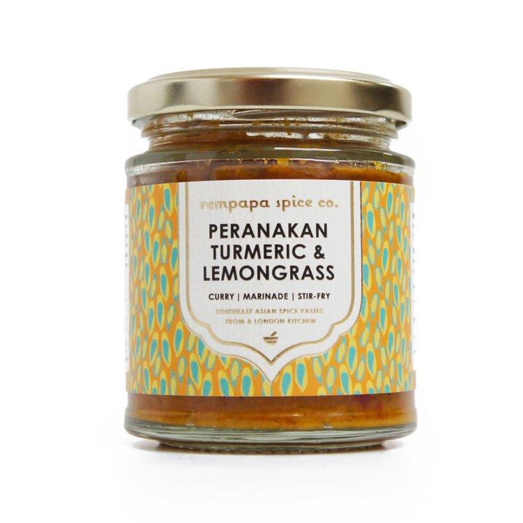 Peranakan Golden Turmeric & Lemongrass Spice Paste 140g (For Curries, Stir-Fry & Marinades)