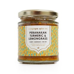 Peranakan Golden Turmeric & Lemongrass Spice Paste 140g (For Curries, Stir-Fry & Marinades)