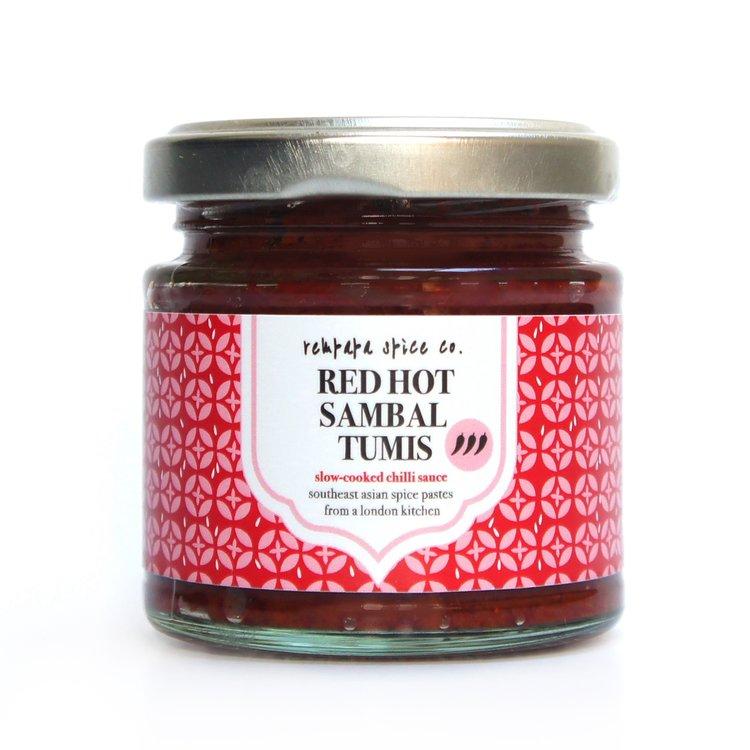 Red Hot Sambal Tumis Chilli Sauce with Tamarind 100g (Vegan)