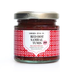Red Hot Sambal Tumis Chilli Sauce with Tamarind 100g (Vegan)