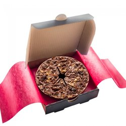 Mini 'Fab Fusion' Hazelnut & Raisin Belgian Chocolate Pizza Gift Box 70g