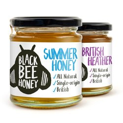 Raw British Ling Heather & 'Summer' Wildflower Honey Set (2 x 250g)