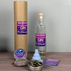Make Your Own Magic Colour Changing Gin Gift Kit Inc. Pea Flowers, Bottle & Instructions