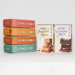 Gluten-Free Baking Mix Sample Set Inc. Pancake, Flapjack, Brownie, Muffin & Energy Ball Mixes