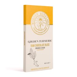 Golden Turmeric Raw 'Bliss' Chocolate Bar 40g (Organic, Vegan)