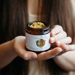 'Golden Glow' Organic Adaptogen Turmeric Blend with Brahmi & Siberian Ginseng 40g