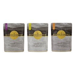 Golden Mylk Organic Turmeric Latte Drink Bundle Set Inc. Chai, Cacao & Classic Blends