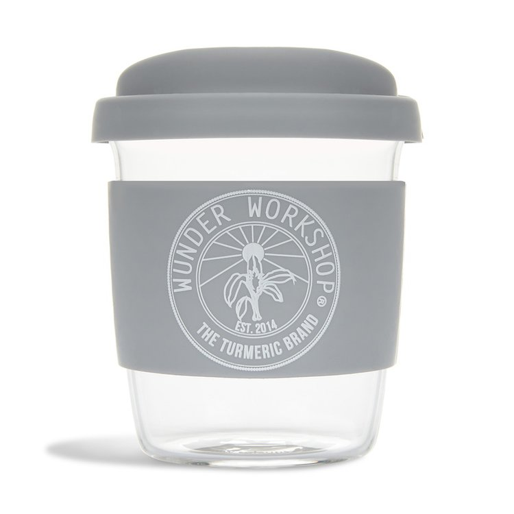 8oz 'Wunder' Reusable Glass Eco Cup with Lid