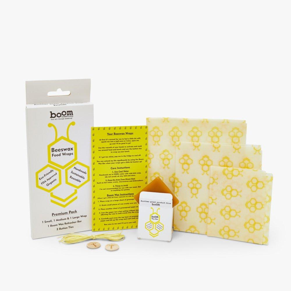 Boom Creations Reusable Organic Beeswax Food Wraps Inc  3