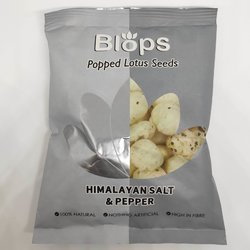 12 x Himalayan Salt & Pepper Popped Lotus Seed Snack Packs (12 x 25g)