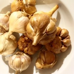 10 Cold Smoked Golden Garlic Bulbs 65mm