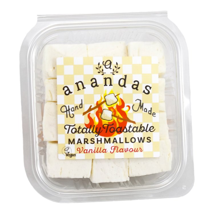 'Totally Toastable' Vegan Vanilla Marshmallows in Resealable Tub for Smores 135g