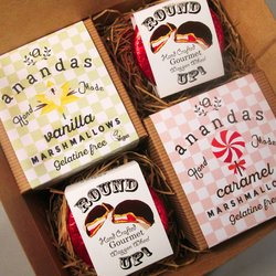 'Classic' Vegan Marshmallow & 'Round Up' Marshmallow Filled Chocolate Biscuit Gift Box