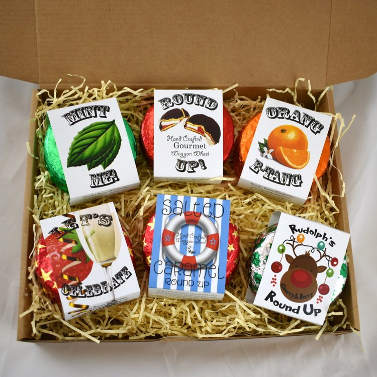 'Round Up' Vegan Marshmallow Filled Chocolate Biscuit Selection Gift Box