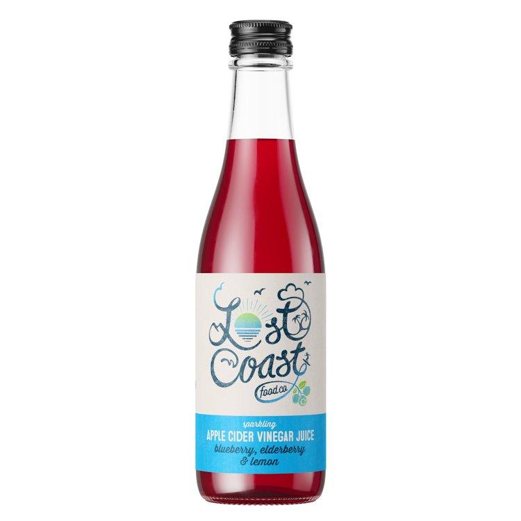 12 x Blueberry, Elderberry & Lemon Sparkling Apple Cider Vinegar Juice 330ml