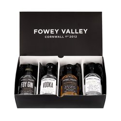 Fowey Valley Miniature Gin, Vodka, Digestif & Aperitif Selection Gift Box (4 x 50ml)
