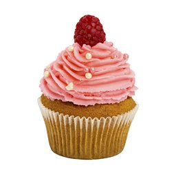 6 Raspberry Vegan Cupcakes with Buttercream