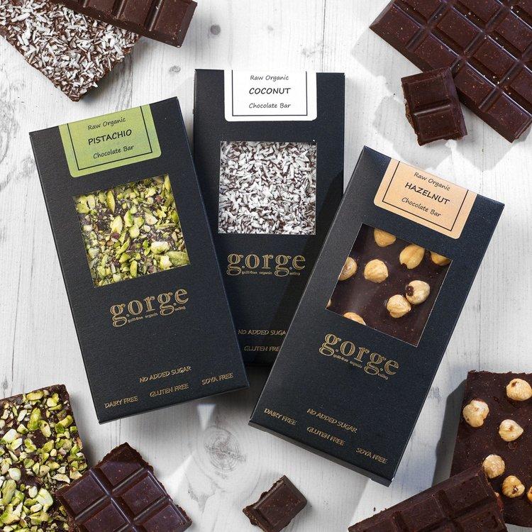 3 'Nutty' Organic Chocolate Bars with Pistachio, Coconut & Hazelnut Bars (Dairy-Free, Vegan)
