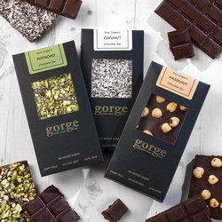 3 'Nutty' Organic Chocolate Bars with Pistachio, Coconut & Hazelnut Bars (Dairy-Free, Vegan)