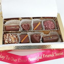 8 Piece Assorted Vegan Milk Chocolate Gift Box
