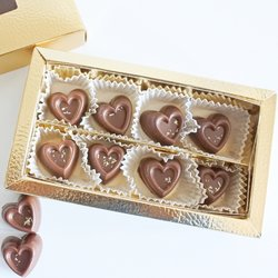 8 Piece Vegan Vanilla Milk Chocolate Gift Box