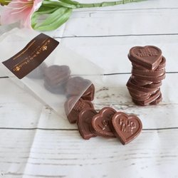 11 Piece Vegan Milk Chocolate Love Hearts