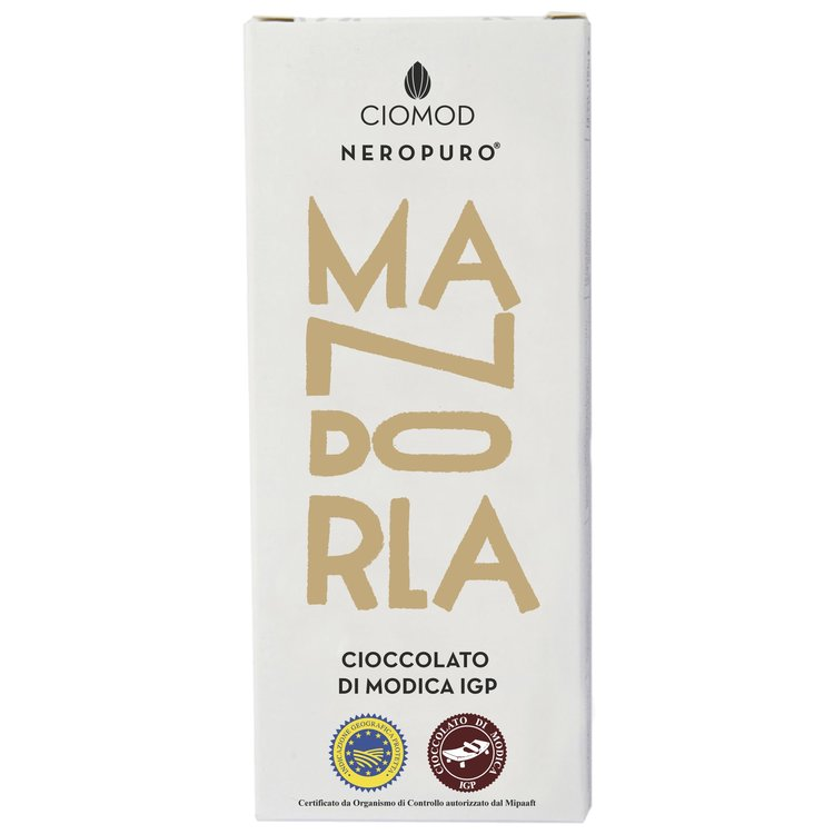 Almond Modica Chocolate Bar 'Mandorla' I.G.P 100g (Dairy Free, Vegan)