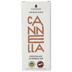 Cinnamon Modica Chocolate Bar 'Canella' I.G.P 100g (Dairy Free, Vegan)