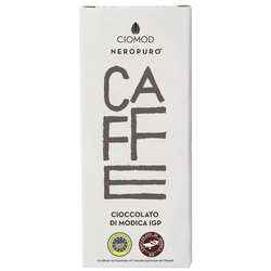 Coffee Modica Chocolate Bar 'Caffe' I.G.P 100g (Dairy Free, Vegan)