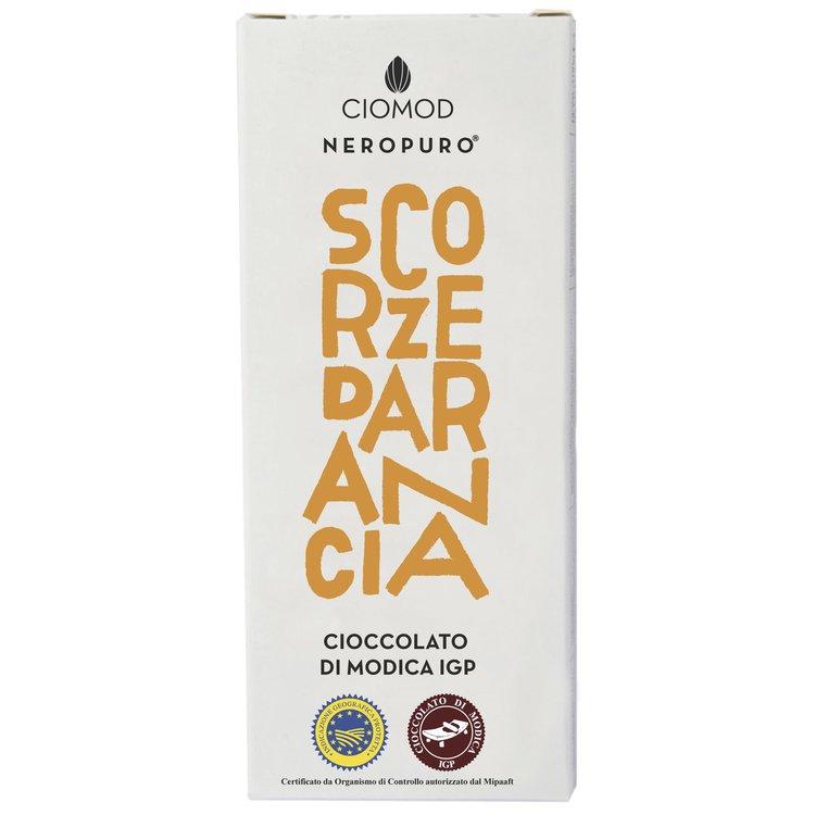Orange Peel Modica Chocolate Bar 'Scorze D'Arancia' I.G.P 100g (Dairy Free, Vegan)