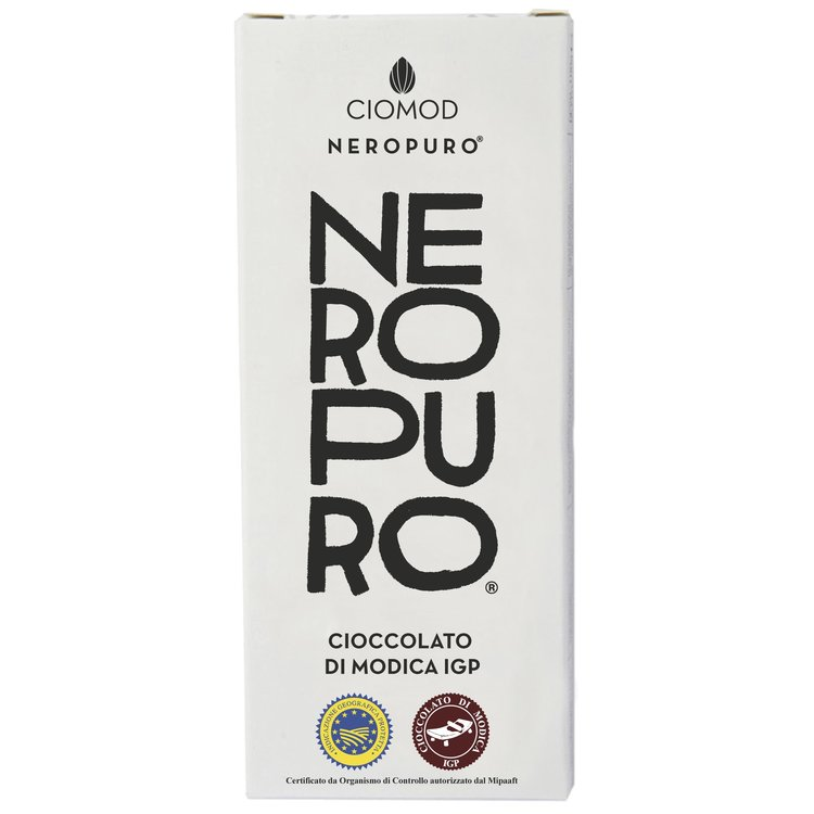 Pure Modica Chocolate Bar 'Nero Puro' I.G.P 100g (Dairy Free, Vegan)