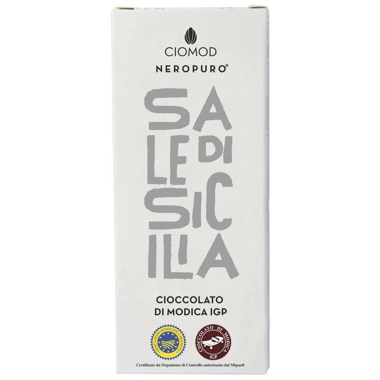 Sicilian Sea Salt Modica Chocolate Bar 'Sale Di Sicilia' I.G.P 100g (Dairy Free, Vegan)