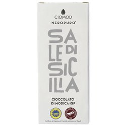 Sicilian Sea Salt Modica Chocolate Bar 'Sale Di Sicilia' I.G.P 100g (Dairy Free, Vegan)