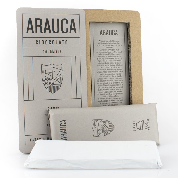 Handmade Arauca 'Bean to Bar' Modica Chocolate Bar 50g (Dairy Free, Vegan)