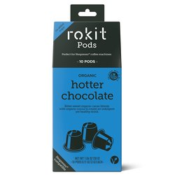 10 Organic 'Hotter Chocolate' Hot Chocolate Nespresso Compatible Pod Capsules
