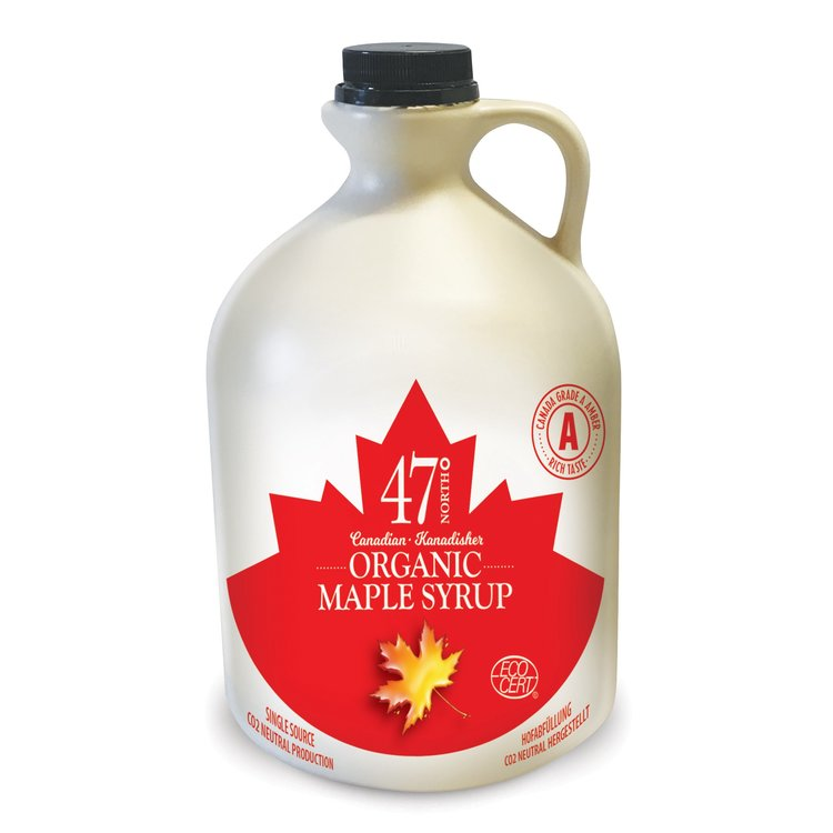 2 x Organic Canadian Maple Syrup Jug 500ml
