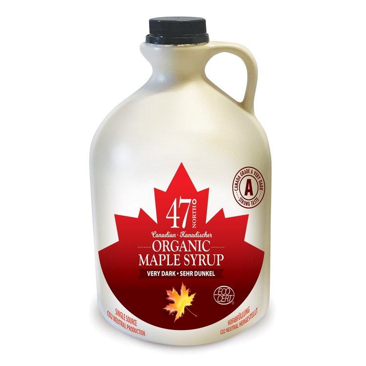 2 x Organic Canadian Very Dark Maple Syrup Jug 500ml