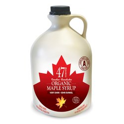 2 x Organic Canadian Very Dark Maple Syrup Jug 500ml