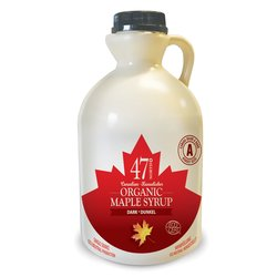 Organic Canadian Dark Maple Syrup Jug 1 Litre