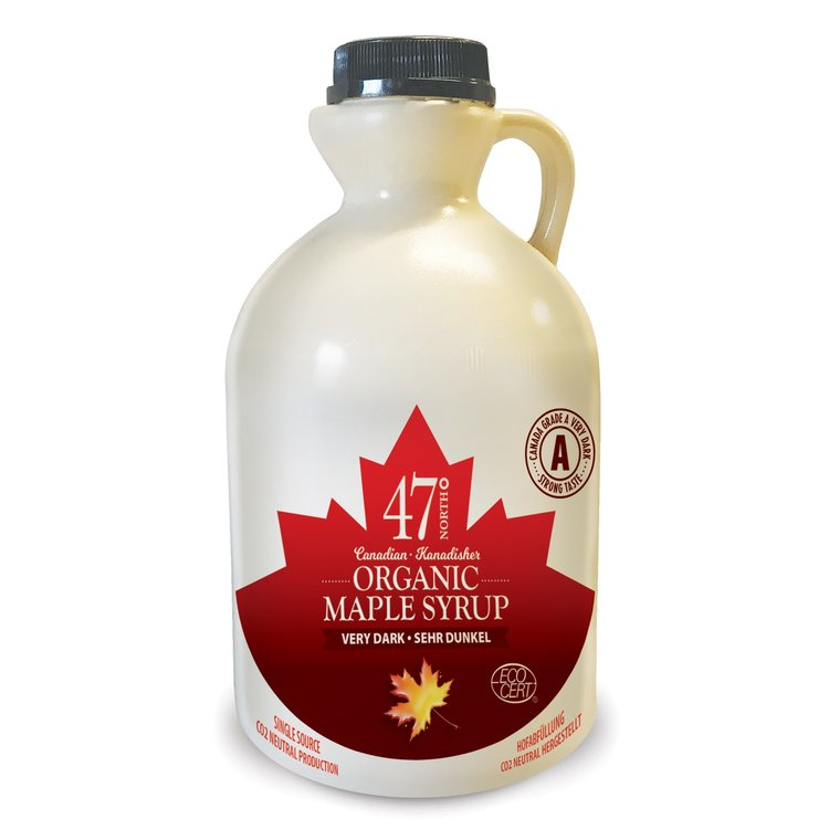 Organic Canadian Very Dark Maple Syrup Jug 1 Litre